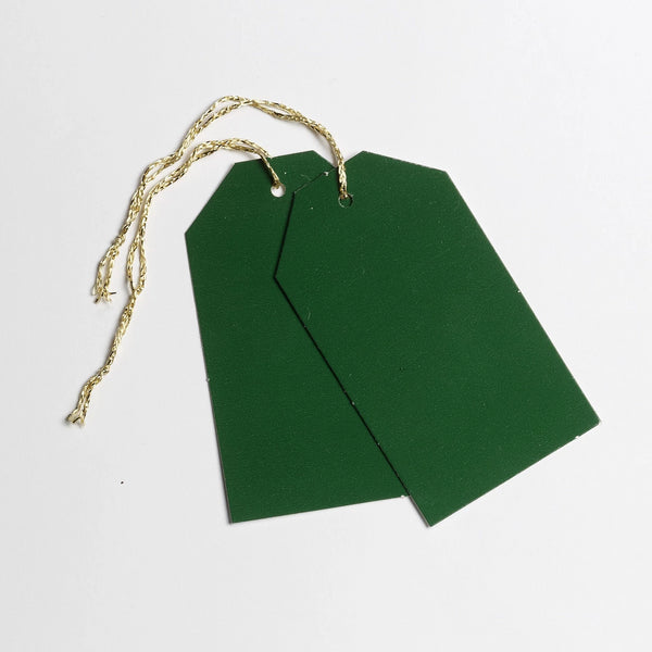 Luggage Gloss Dark Green Gift Tags (50)