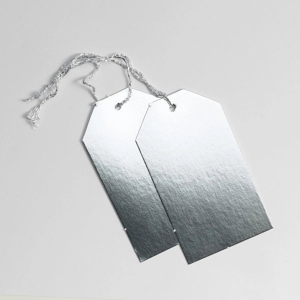 Luggage Gloss Silver Gift Tags (50)