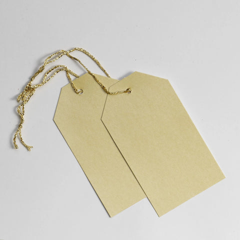 Luggage Pearl Gold Gift Tags (50)