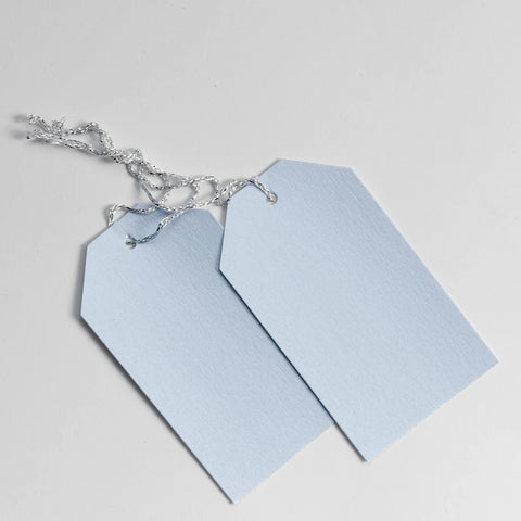 Luggage Pearl Pastel Blue Gift Tags (50)
