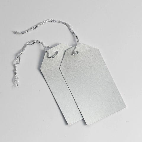 Luggage Pearl Silver Gift Tags (50)