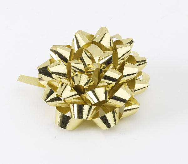 Metallic Gold Confetti Bows (50)