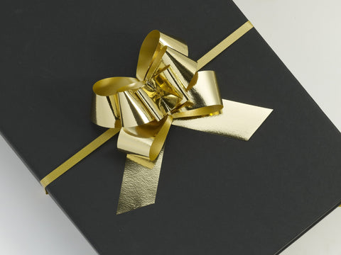 Metallic Gold Large Pull Bows