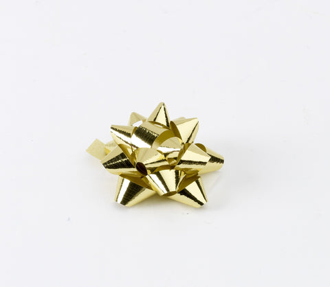 Metallic Gold Small Bows (50)