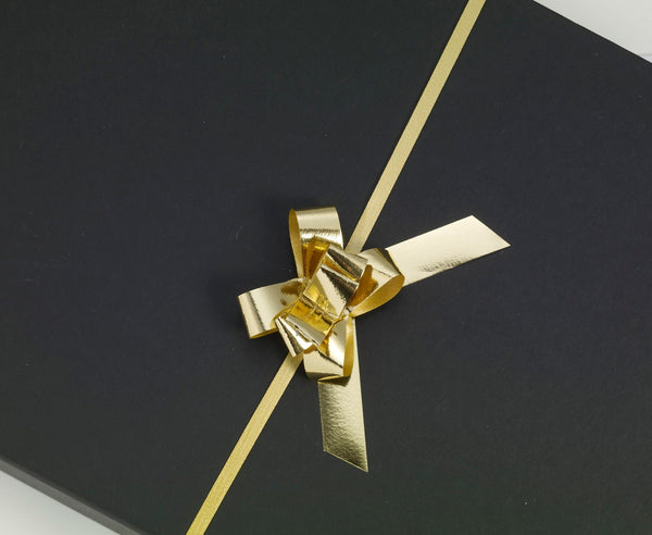Metallic Gold Small Pull Bows (100)