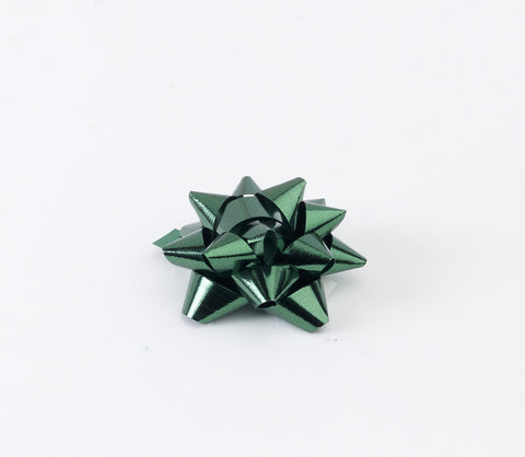 Metallic Green Small Bows (50)