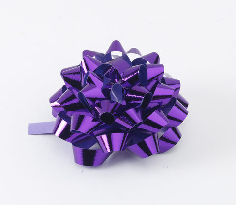Metallic Purple Confetti Bows (50)