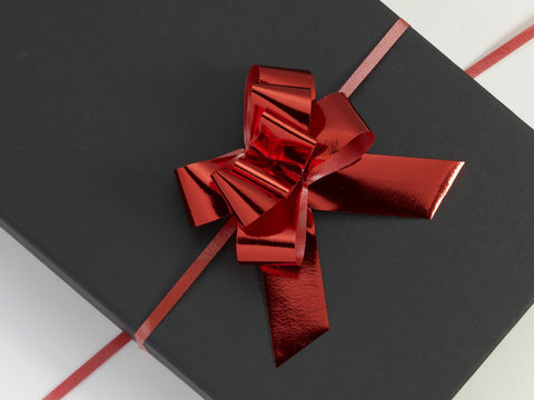 Metallic Red Large Pull Bows