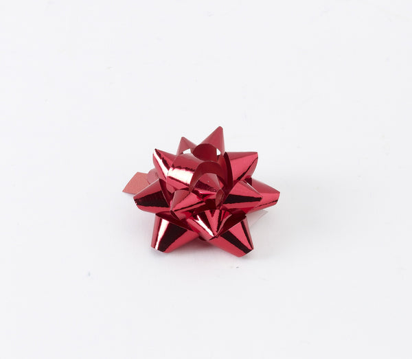 Metallic Red Small Bows (50)