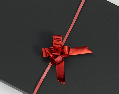 Metallic Red Small Pull Bows (100)