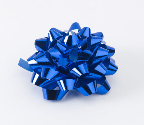 Metallic Royal Blue Confetti Bows (50)