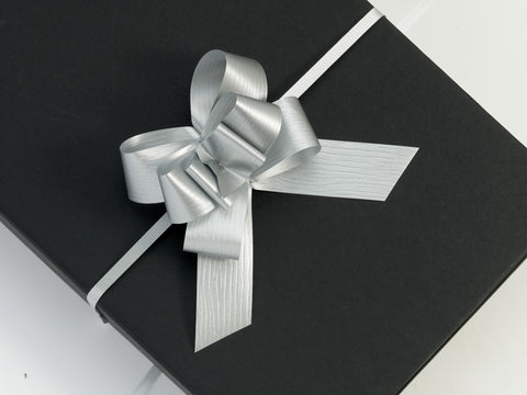 Paporlene Silver Large Pull Bows (100)