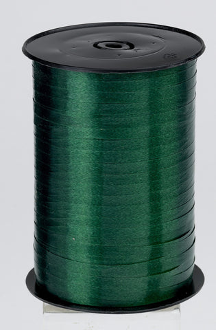 Plain Dark Green Curling Ribbon (5mm x 500m)