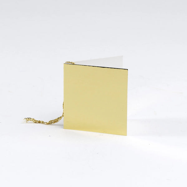 Plain Square Gloss Gold Gift Tags (50)