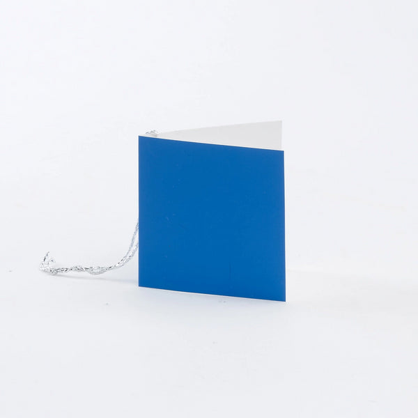 Plain Square Gloss Mid Blue Gift Tags (50)