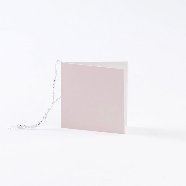 Plain Square Gloss Pastel Pink Gift Tags (50)