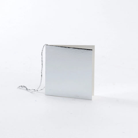 Plain Square Gloss Silver Gift Tags (50)