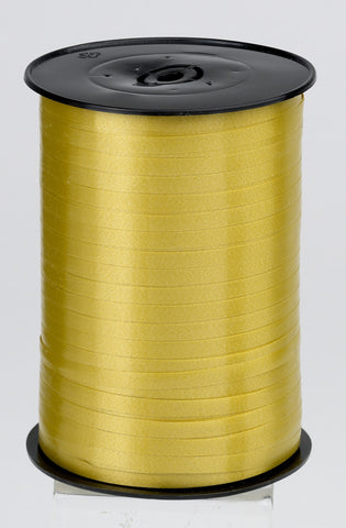 Plain Gold Curling Ribbon (5mm x 500m)