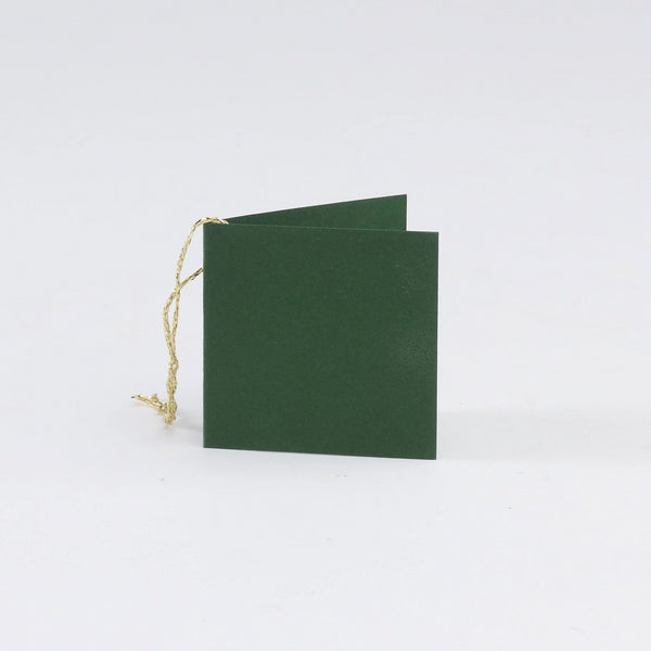 Plain Square Matt Dark Green Gift Tags (50)