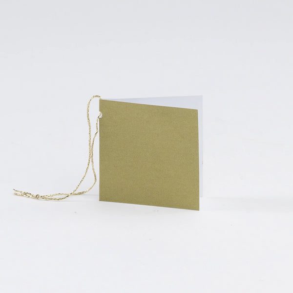 Plain Square Matt  Gold Gift Tags (50)