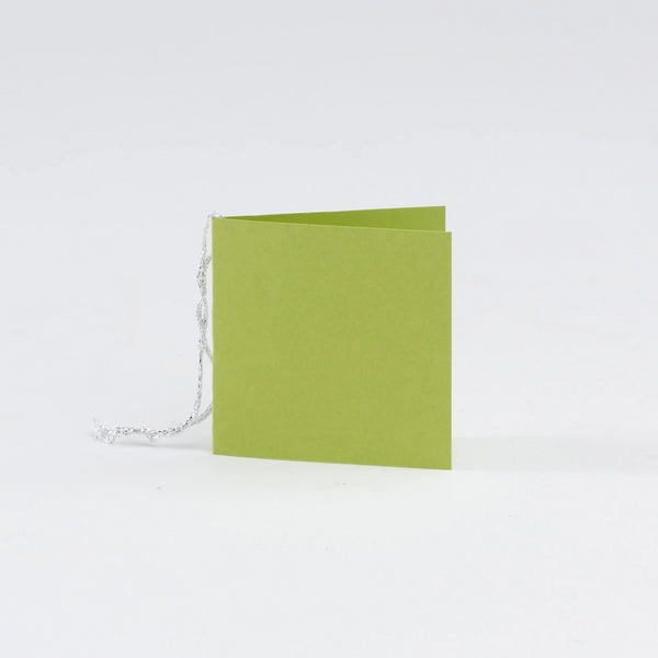 Plain Square Matt  Lime Gift Tags (50)