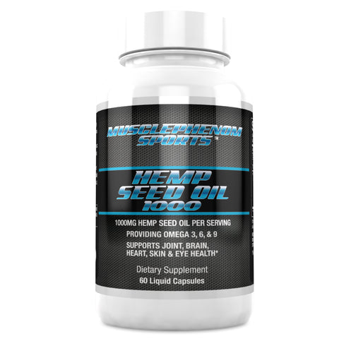 HEMP SEED OIL 1000 60 CAPSULES - MusclePhenom Sports