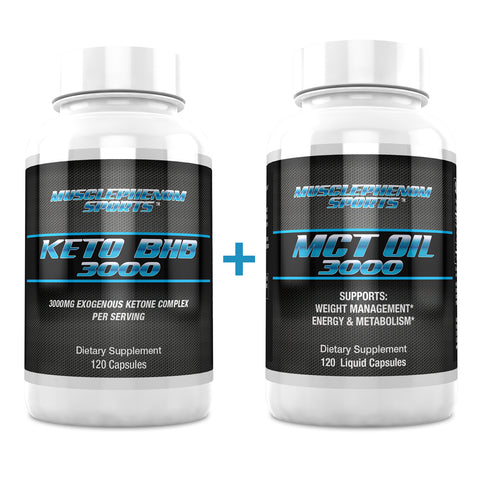 KETO DIET STACK  BHB 3000 + MCT OIL 3000 - MusclePhenom Sports