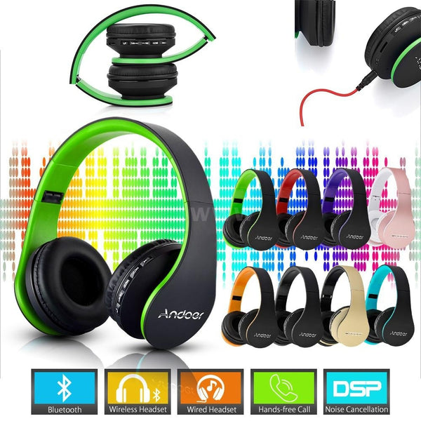Wireless Stereo Bluetooth 4.1 + EDR Headphone Earphone Headset & Wired Earphone with Mic MP3 Player MicroSD / TF Music FM Radio Hands-free for Smart Phones Tablet PC Notebook