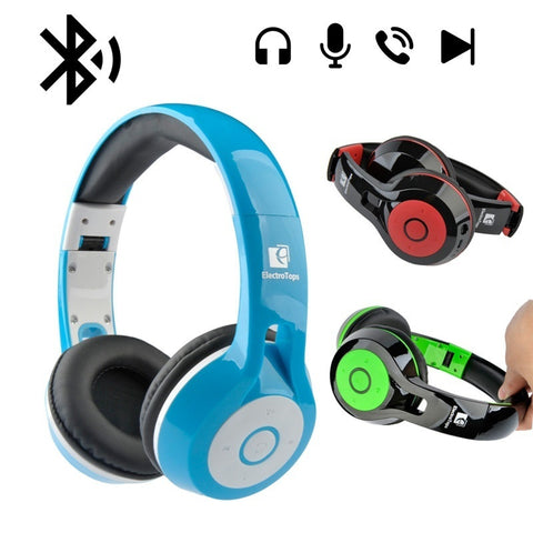 Fashion Wireless Bluetooth Headsets Over-ear Stereo Headphones, foldable & adjustable built-in Microphone