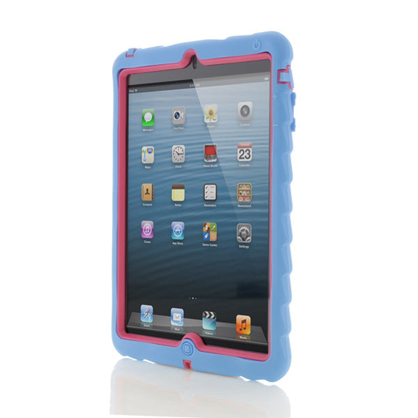 Apple iPad mini Case Silicone Dual Layer Cover Case Color Blue/Pink