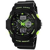 Men's Watch Sports Dual Time Zones Calendar LED Multifunction Water Resistant Cool Watches Unique Watches Fashion Watch