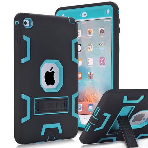 iPad Mini 4 Case Cover High Impact Resistant Hybrid Three Layer Heavy Duty