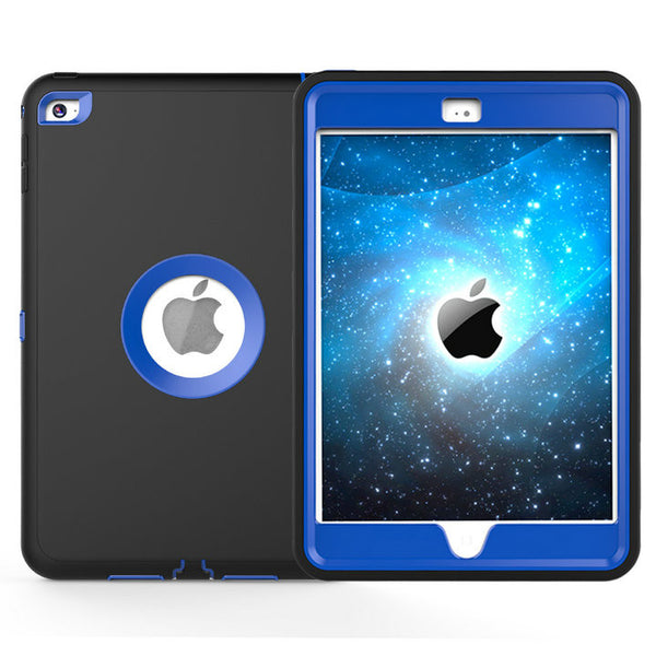 iPad Mini 1/2/3 shockproof Heavy Duty Silicone Hard Case Cover With Screen Protector Film+Stylus Pen
