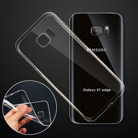 Samsung Galaxy S7 Ultra Thin Clear Crystal Rubber TPU Soft Case Cover