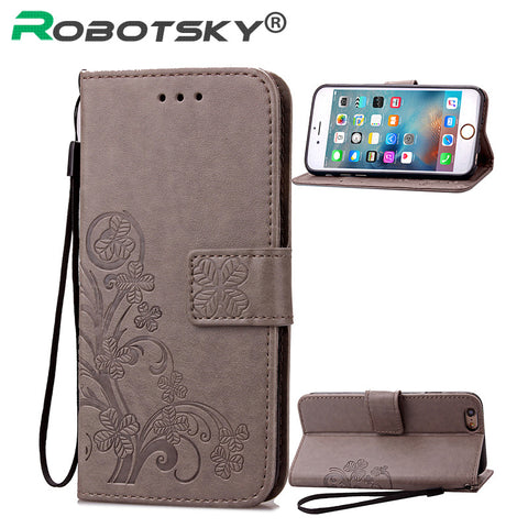 iPhone 5 5S 6 6S Plus Wallet Flip PU Leather Case Cover