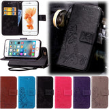 Wallet Flip PU Leather Case Cover For iPhone 5 5S 6 6S Plus Case with Stand Card Slot phone cases