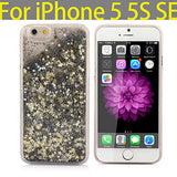 Apple iPhone Luxury Fashion Glitter Sand Star Clear Case