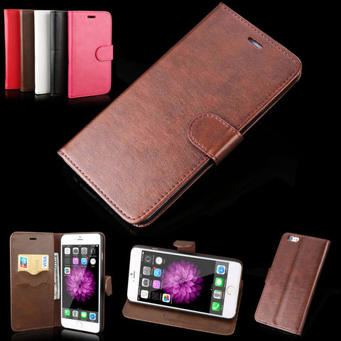 Leather Wallet stand phone cover cases iphone 5