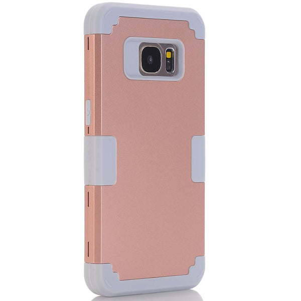 Samsung Galaxy S7 Shockproof Protect Case Hybrid Hard Rubber Impact Skin Armor