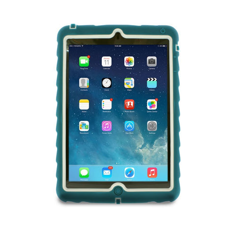 Apple iPad mini Case Silicone Dual Layer Cover Case Color Teal/Gray