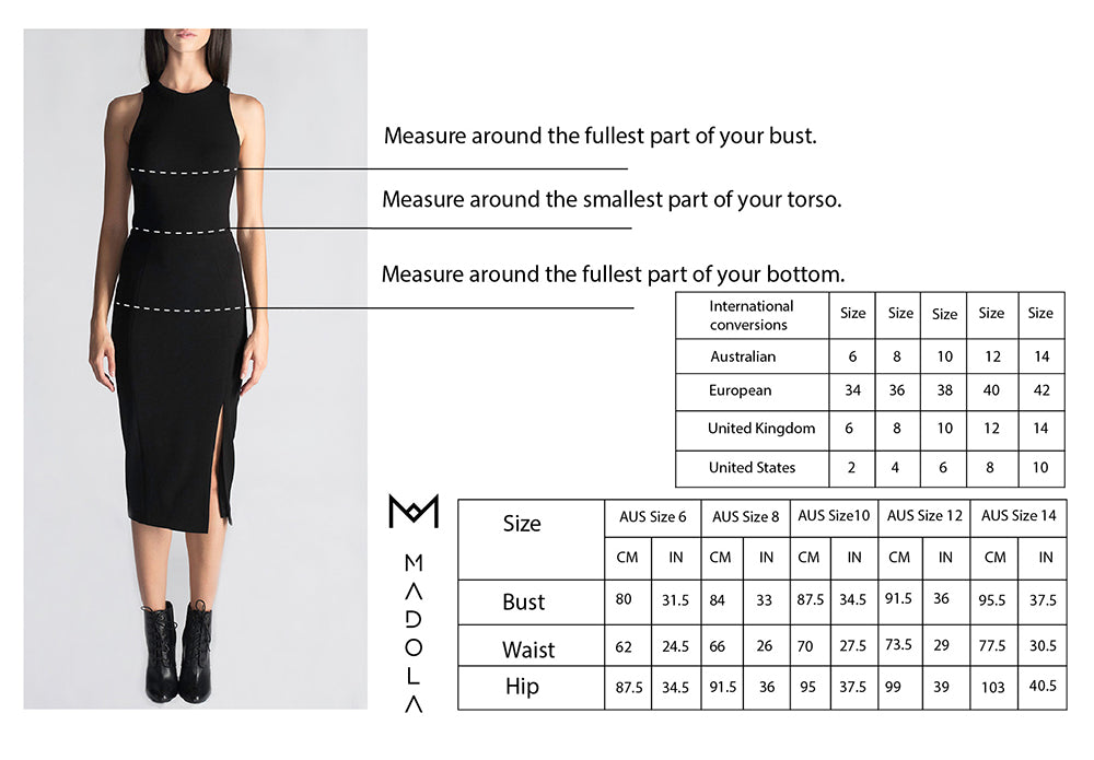 MADOLA-THE-LABEL Size Chart