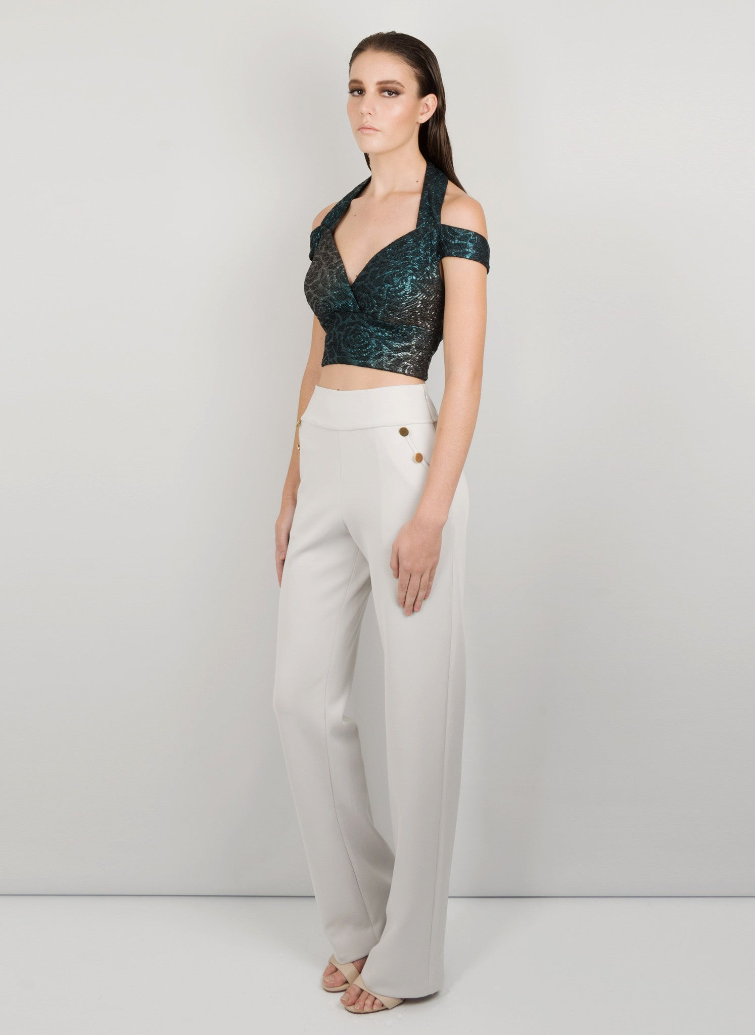 MADOLA-THE-LABEL - ALANA CROP TOP. Luxurious fabric which hugs the body, attached cups. Designed in Australia.MADOLA-THE-LABEL - ALANA CROP TOP. Luxurious fabric which hugs the body, attached cups. Designed in Australia.