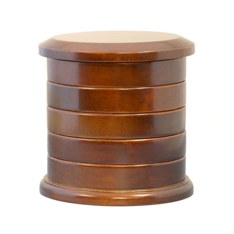 Cambridge Swivel Timber Jewellery Box Brown 19cm Closed PTJB033