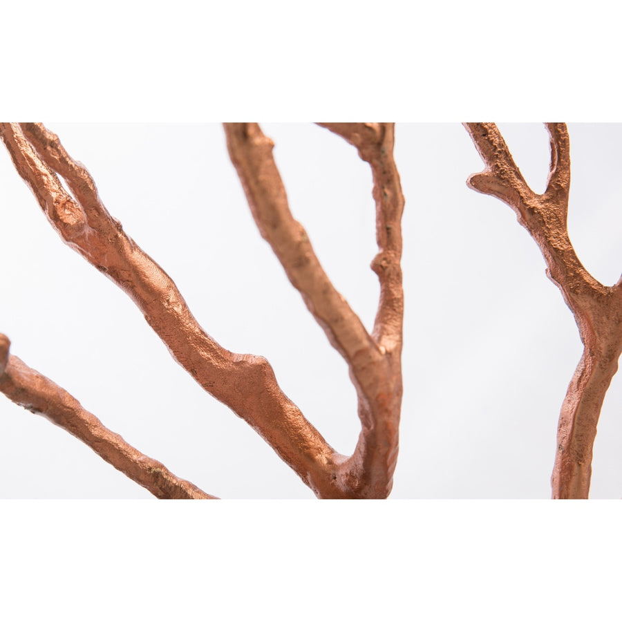 Casa Uno Aluminium Jewellery Tree, Copper, Large, 44cm