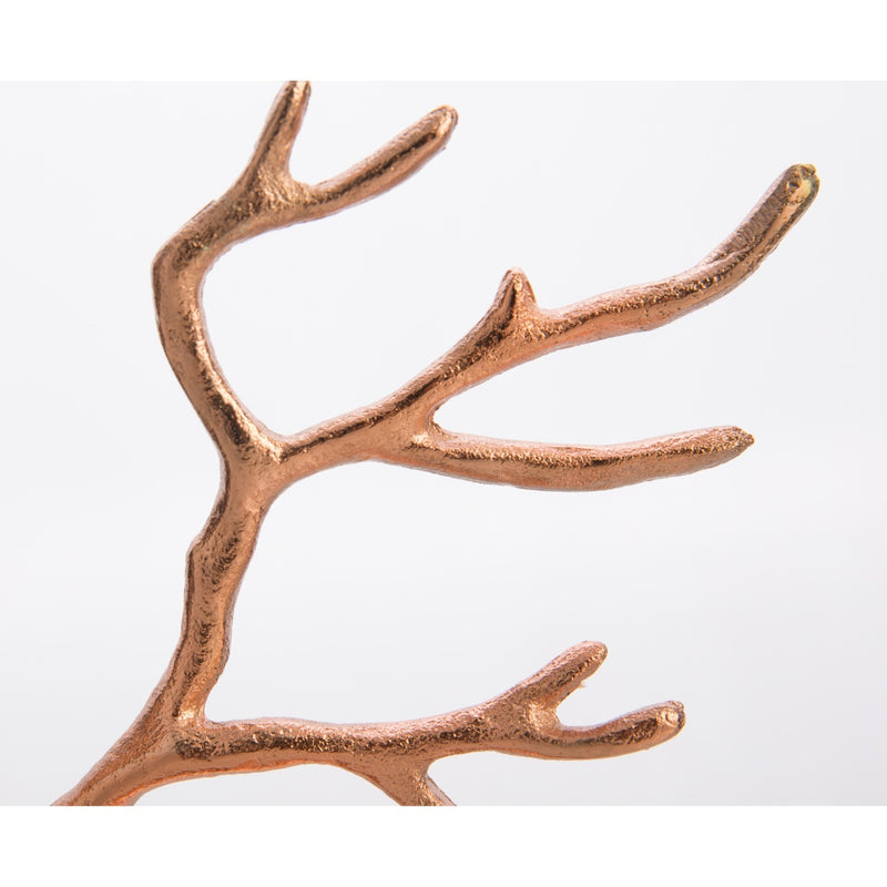 Casa Uno Aluminium Jewellery Tree, Copper, Medium, 28cm