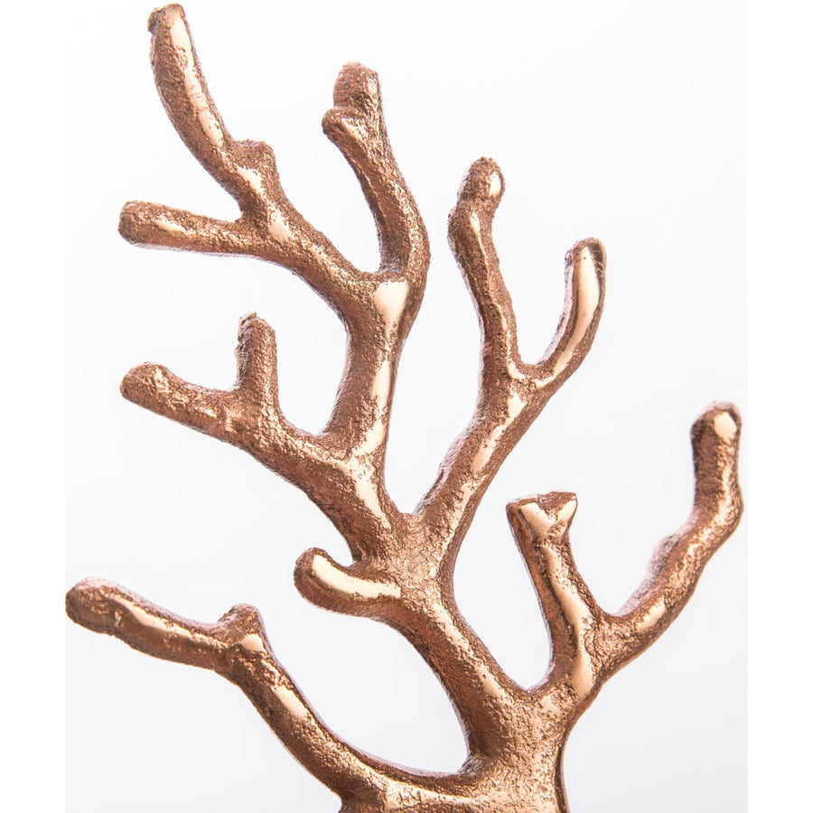 Casa Uno Aluminium Jewellery Tree, Copper, Small, 16cm