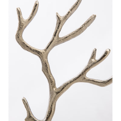 Casa Uno Aluminium Jewellery Tree Silver Medium 28cm Branches HN9533