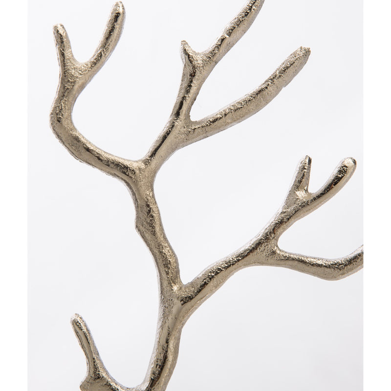 Casa Uno Aluminium Jewellery Tree, Silver, Medium, 28cm