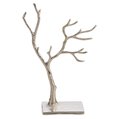 Casa Uno Aluminium Jewellery Tree Silver Medium 28cm Front HN9533