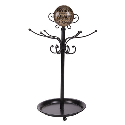 Casa Uno Good Friends Ring and Jewellery Stand Black 41cm LH33